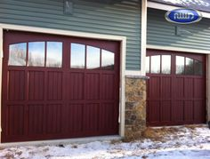 Infinity Classic Model I203A WG Mahogany PC Finish Garage Door
