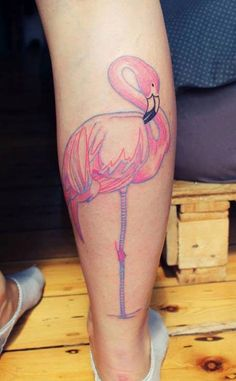 Tattoo Lust Leftovers: Part XXVII  | Fonda LaShay // Design → more on fondalashay.com/blog Pink Flamingo Tattoo artist unknown