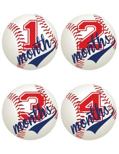 Baseball Themed Baby Milestone Stickers – iDesign by Kathy