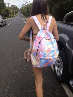 bag rainbow pink yellow orange blue backpack canvas bag pastel multi-coloured rucksack tie dye cool grunge colorful cute tie dye backpack boho gypsy pale rosy girl streetwear streetstyle bunt beach indie bag style hipster tumblr tumblr outfit tumblr bag pastel bag bikini brunette car outside cool bag need this bagpack bookbag back to school beach bag school bag gasspill gas trippy oil slick