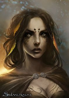 Stunning Fantasy Illustrations by Sandra Duchiewicz #witch #oracle