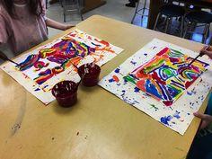 "75 Likes, 6 Comments - Ginger Bowerman Pacer (@paintbrushrocket) on Instagram: ""1st Grade Kandinsky's painted to music. Great job Miss Andrews!  #kandinsky #1stgrade #1stgradeart…"""