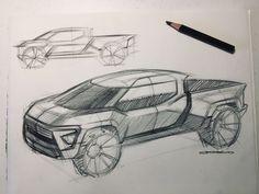 Electric Pickup Truck, Car Design Sketch, Adjustable Legs, Automotive Design, Video Tutorials, Pickup Trucks, Concept Cars, Online Courses, Sketches