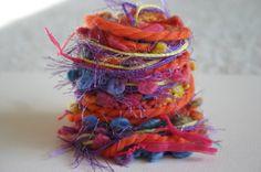 Elegant carnival of fun specialty yarn fiber by bluehollow on Etsy, $4.50