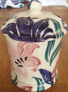 Emma Bridgewater Blue & Red Lilies Storage Jar