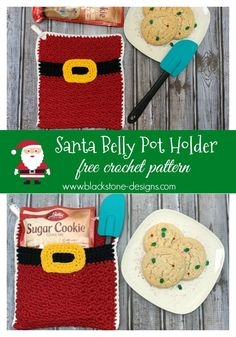 Santa Belly Pot Holder free crochet pattern from Blackstone Designs  #crochet #christmas #santacrafts #santapotholder #potholder #kitchen #forthekitchen #christmaskitchen #holidaykitchen #happyholidays #freecrochetpattern #crochetsnowman #ChristmasKitchenCAL