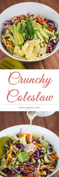Perfect for a picnic or potluck, must-have crunchy coleslaw recipe | jessicagavin.com
