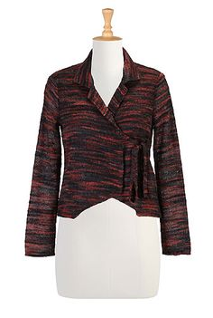 Womens jackets, plus size coats, retro feminine 50s and 60s styles - coats, jackets, blazers, ponchos and capes, cropped jackets, toppers, car coats, trenches,   eShakti.com