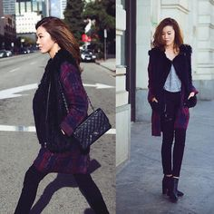 Plaid Coat, Jeans