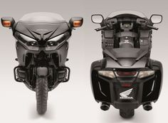 Front and rear view of the 2013 Honda Goldwing F6B #f6b #goldwing #honda #2013
