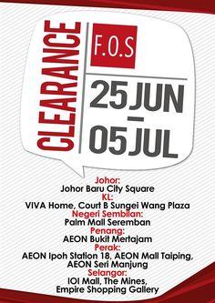 22 Jun-5 Jul 2015: F.O.S Clearance Event
