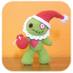 Santa Claus zombie plush Christmas costume crochet cotton ready to ship  Etsy STore Shout Out!  ZOmbie Santa Suit!  <3