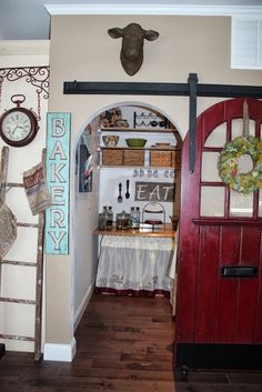Fern Avenue: Sliding Pantry Door - A before and after