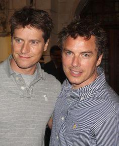 John Barrowman & Scott Gill - See more: http://gaycouples.tumblr.com/post/1308614141/bad-hair-day