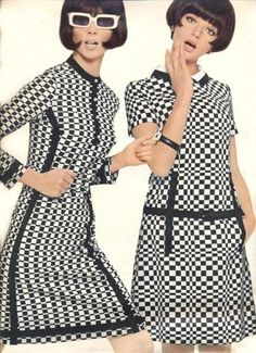1960's Mod. <3 I like this image because it shows op art has been in fashion for a long time.