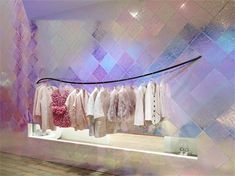 Pop Up Shop Design / Retail Design / Semi Permanent Retail Fixtures / VM / Retail Display / Chanel Pop up store in Tokyo Visual Merchandising, Glitter Wallpaper Iphone, Glitter Paint For Walls, Design Commercial, Booth, Visual Display, Retail Interior, Pop Up Shops, Retail Space