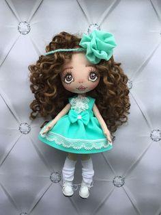 """Купить Куколка """"Нежная мята"""" - кукла ручной работы, кукла, кукла в подарок, кукла интерьерная"""
