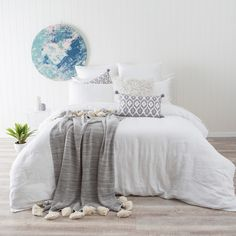 Washed Linen White Quilt Cover Set
