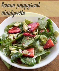 Lemon Poppy seed Vinaigrette - Perfect light summer dressing with just a hit of fruit