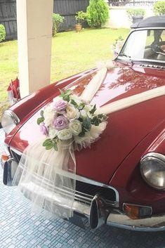 30 Gorgeous Wedding Car Decoration Ideas ❤ wedding car decoration ideas red car lartiste.my ❤ See more: http://www.weddingforward.com/wedding-car-decoration-ideas/ #weddingforward #wedding #bride