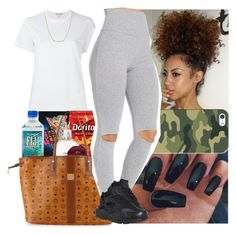 """""""My girl ain't bad she more like evil"""" by msixo ❤ liked on Polyvore featuring Chanel, MCM, David Yurman, Casetify and NIKE"""