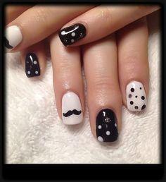 Trendy Cool Mustache Nail Art Designs | Fashionte