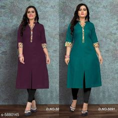 Kurtis & Kurtas Women Cotton Front Slit Solid Kurti Sleeve Length: Three-Quarter Sleeves Pattern: Solid Combo of: Single Sizes: M (Bust Size: 38 in Size Length: 46 in)  Country of Origin: India Sizes Available: M, L, XL, XXL, XXXL, 4XL, 5XL, 6XL   Catalog Rating: ★4 (428)  Catalog Name: Women Cotton Front Slit Solid Kurti CatalogID_887857 C74-SC1001 Code: 305-5880145-8031