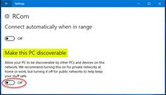 enable network discovery win 8