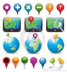 Royalty Free Stock Photography: GPS Navigation & Map Icons