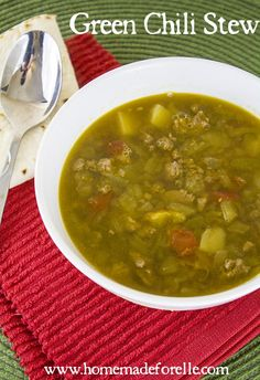 My Hearty Green Chile Stew ⋆ Homemade for Elle