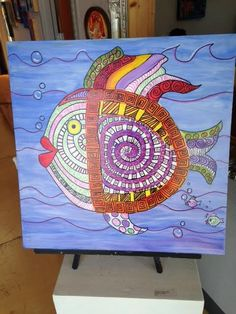 The Fish Mandala, a collaborative piece painted by our Pinellas County Schools' Transition ESE students.