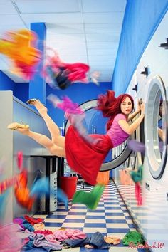 Flying in the laundry....