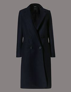 Tailored Fit Wool Cashmere Coat with Buttonsafe™ | M&S