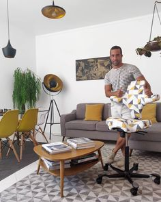 Thanks to all my friends that helped me to win My Capisco Challenge! Thanks for the gift I love it 😍 it fits perfectly my living room! Fitness Icon, Free Fitness, Living In Yellow, Scandinavian Living, My Living Room, Decoration, Product Launch, Pink Fitness, Black Fitness