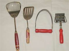 Red handle kitchen utensils