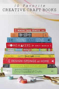 Check out these amazing 10 favorite creative craft books because sometimes you just need some beautiful inspiration to get those creative juices flowing! Delineate Your Dwelling Craft Books, Book Crafts, Diy Crafts, I Love Books, Books To Read, Washi Tape Crafts, Chalk Lettering, Book Lists, Reading Lists