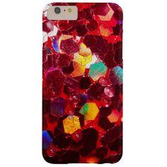 Red mosaic shiny glitter iPhone 6 Plus case