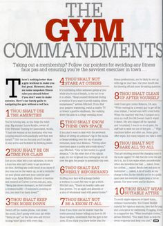 Gym Commandments   Lift Strong Live Long™ ||||||====||||||| ~ mikE™