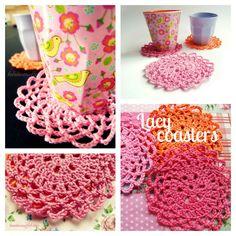 Lacy Coasters Pattern   kardiomuffelchen (English & German)