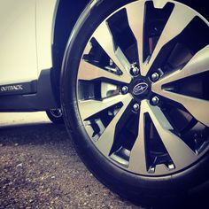Love my new two toned rims on my 2015 subaru outback #subielove