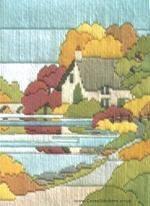 Autumn Walk Long Stitch Kit from Derwentwater Designs