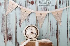 Vintage Dictionary Page Pennant Banner - DIGITAL DOWNLOAD - Create 4 Different Printable Banners - Home, Love, Nest, Time