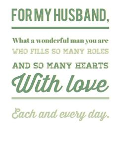 Husband Card - Father's Day, Birthday, Anniversary, Just Because