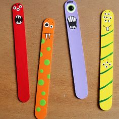 Popsicle Stick Monster Men