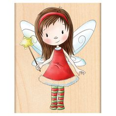 Penny Black Mounted Rubber Stamp Fairy Wishes, , hi-res