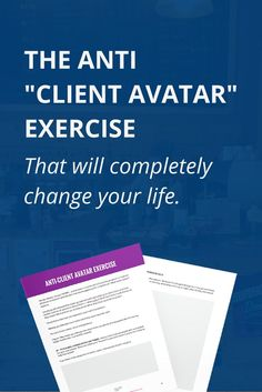 Stop making up ideal client avatars and start doing this instead. When you see the subtle difference, you'll wonder how you didn't think of it yourself!