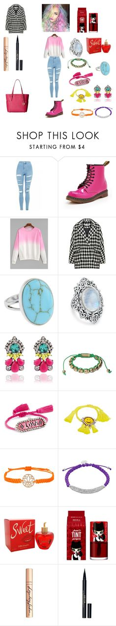 """kawaii"" by mriechou ❤ liked on Polyvore featuring Topshop, Dr. Martens, WithChic, Bohème, Accessorize, Bling Jewelry, Shourouk, Lolita Lempicka, peripera and Charlotte Tilbury"