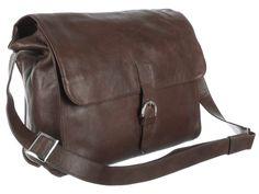 Saccoo Dark Brown Leather 'Novas' Satchel