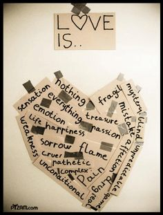 This could be an Art Therapy project - great idea to explore barriers, expectations to/of love, etc.