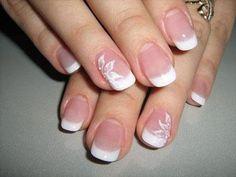 Ideas french manicure designs simple wedding nails for 2019 French Manicure Nail Designs, Accent Nail Designs, Simple Nail Designs, French Tip Nails, Manicure And Pedicure, Nail Art Designs, Manicure Ideas, French Manicures, Diy Nails